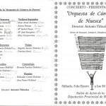 Portada del primer concierto 08-01-1994